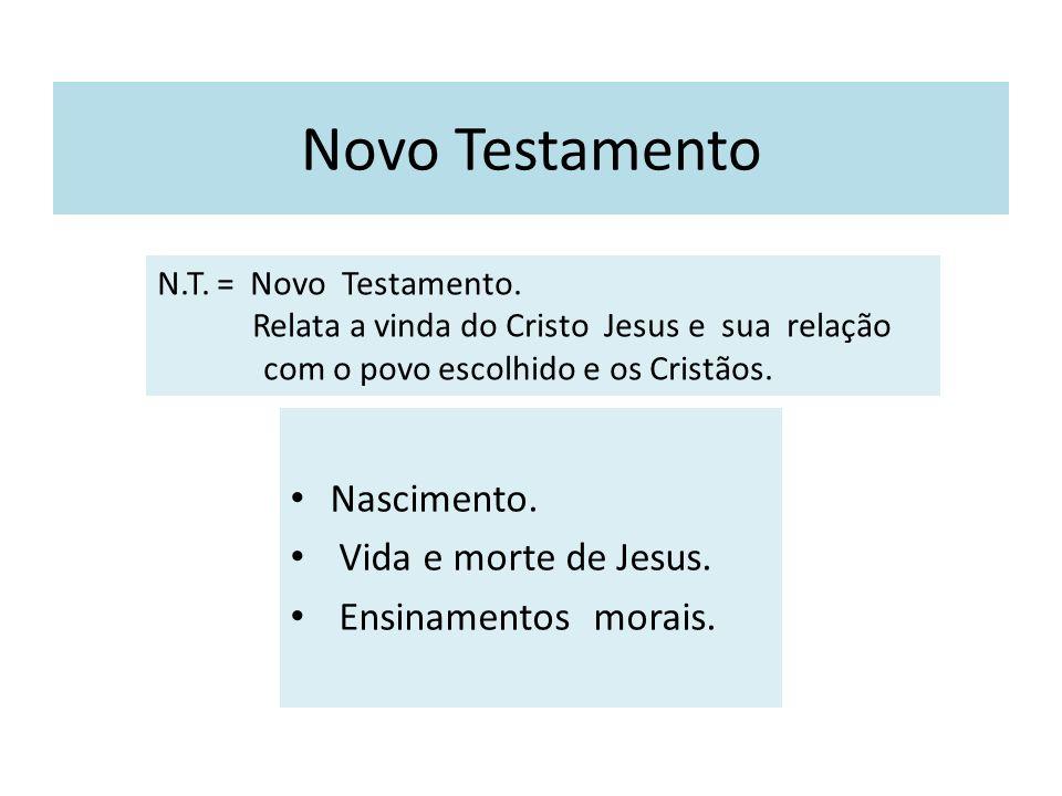 Novo Testamento Nascimento. Vida e morte de Jesus.