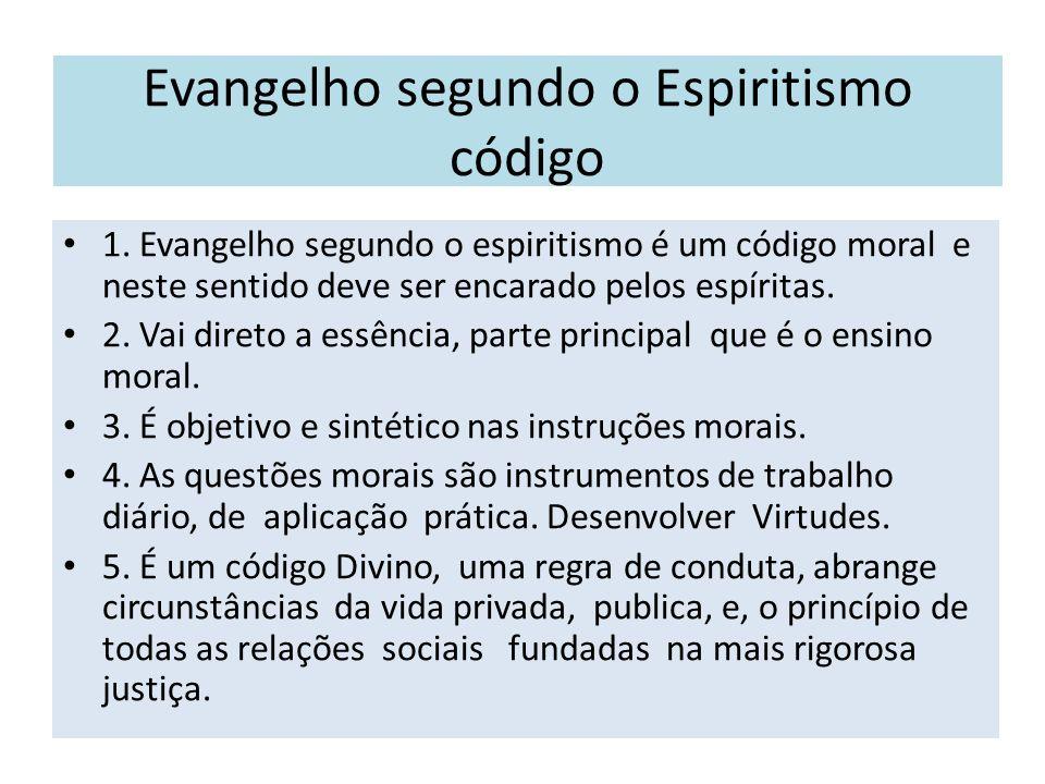 Evangelho segundo o Espiritismo código