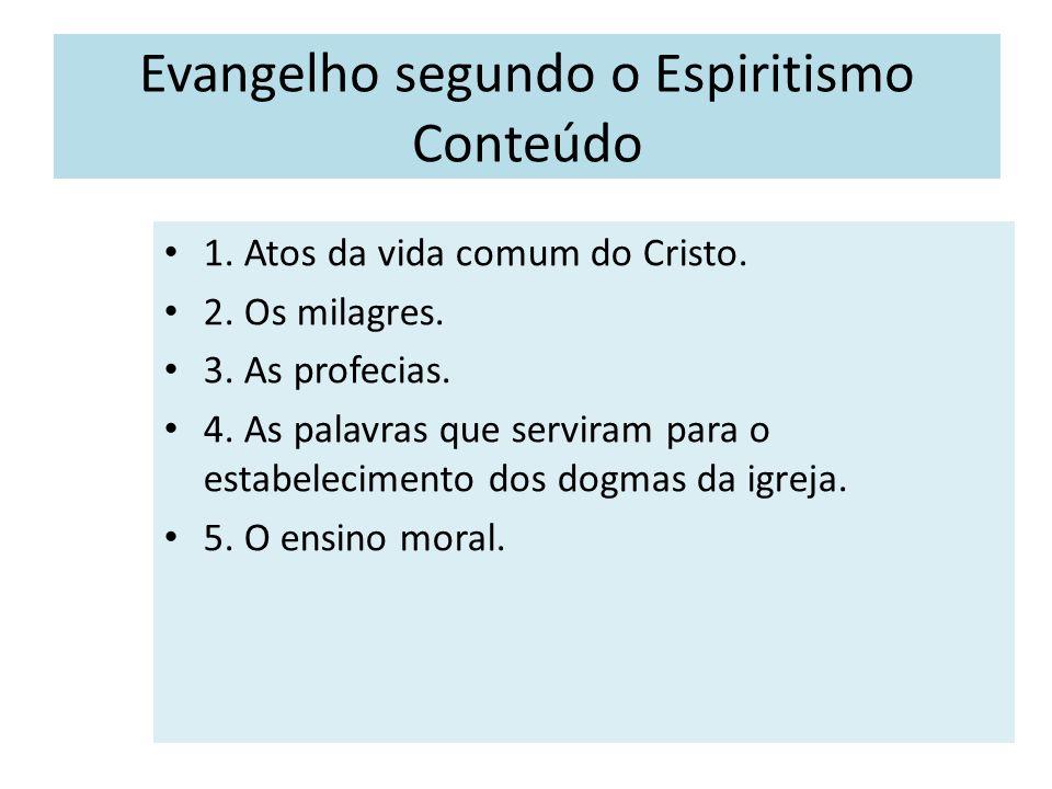 Evangelho segundo o Espiritismo Conteúdo Matérias