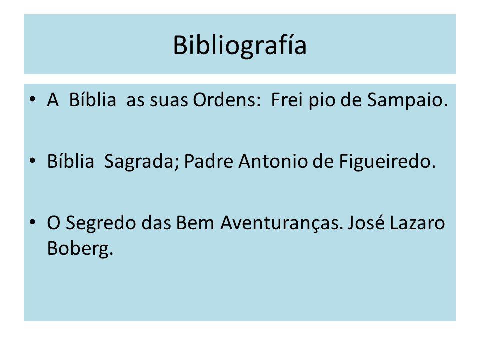 Bibliografía A Bíblia as suas Ordens: Frei pio de Sampaio.