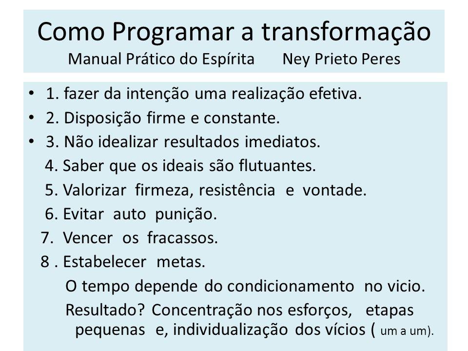 Como Programar a transformação Manual Prático do Espírita Ney Prieto Peres