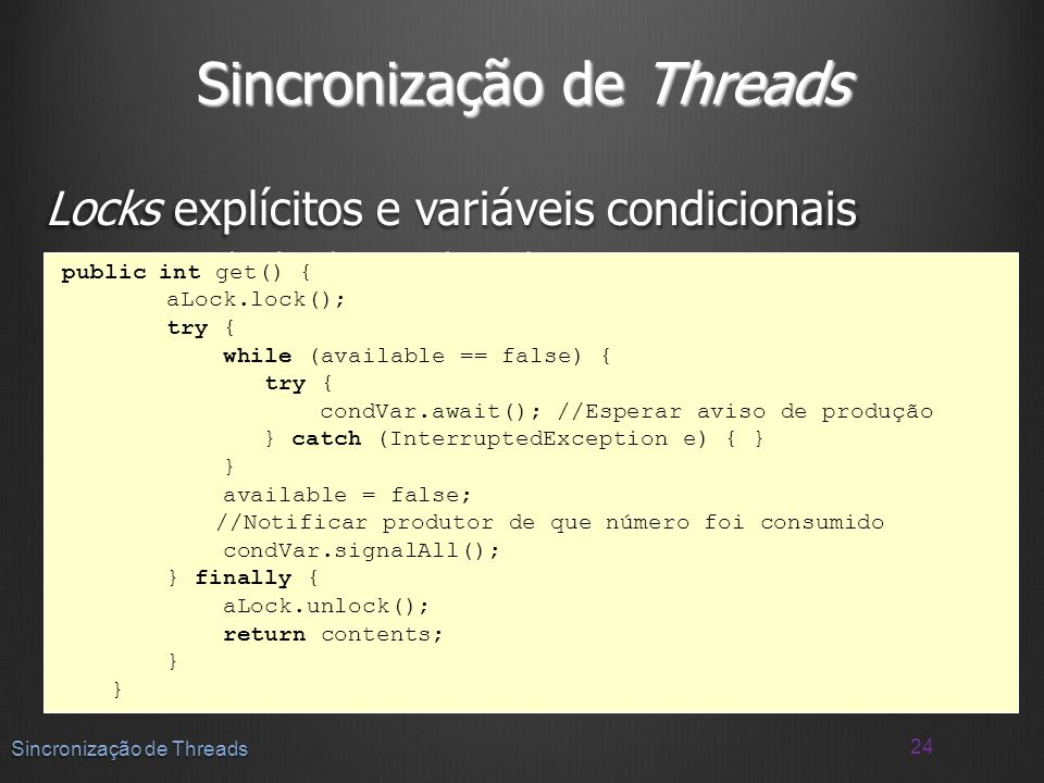 Sincronização de Threads