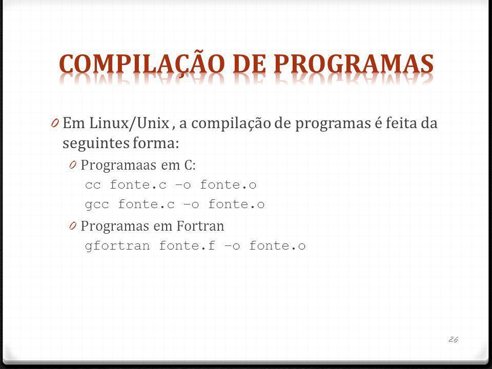 Compilação de programas