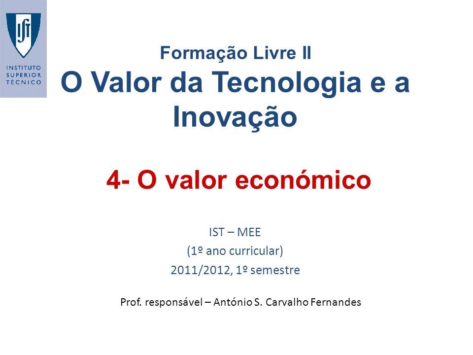 Formação Livre II O Valor da Tecnologia e a Inovação