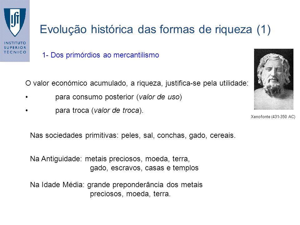 Evolução histórica das formas de riqueza (1)
