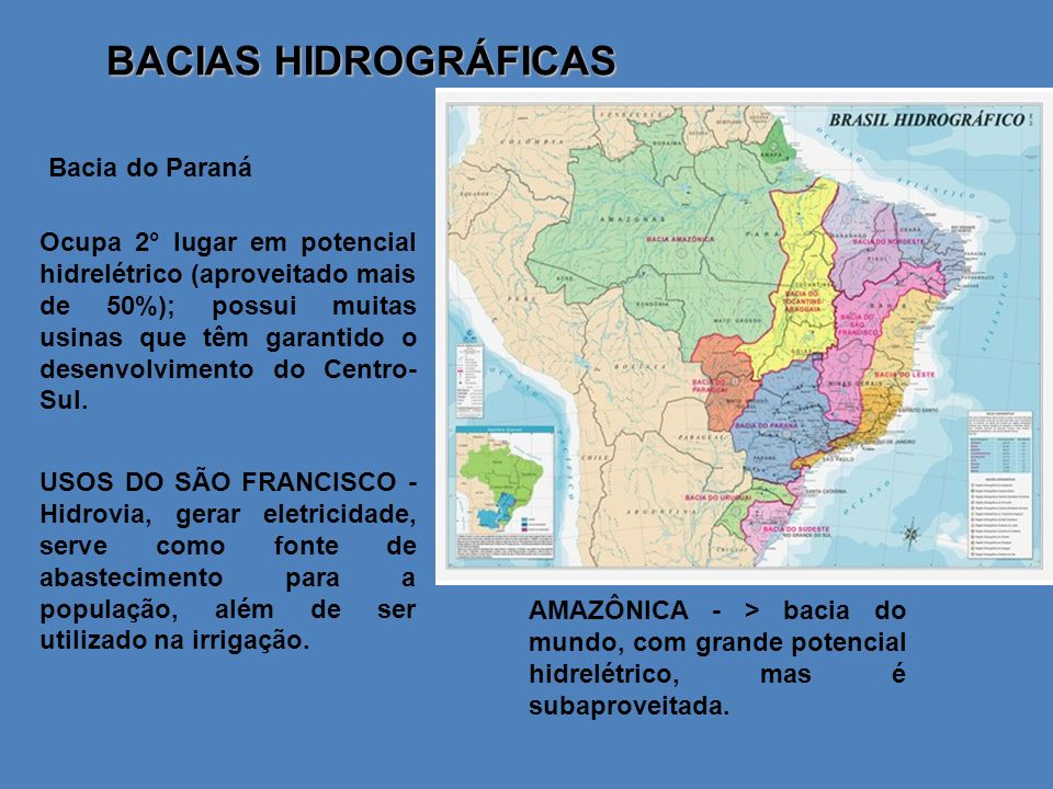 BACIAS HIDROGRÁFICAS Bacia do Paraná