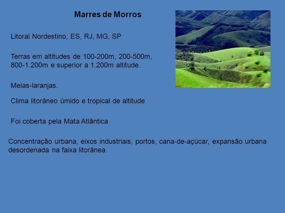 Marres de Morros Litoral Nordestino, ES, RJ, MG, SP