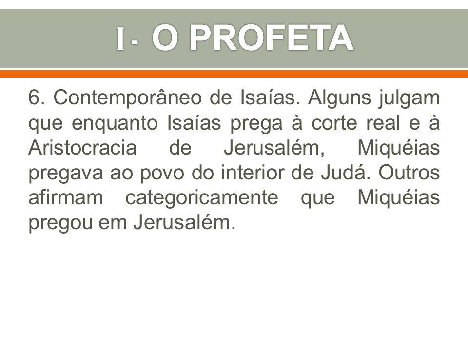 I - O PROFETA