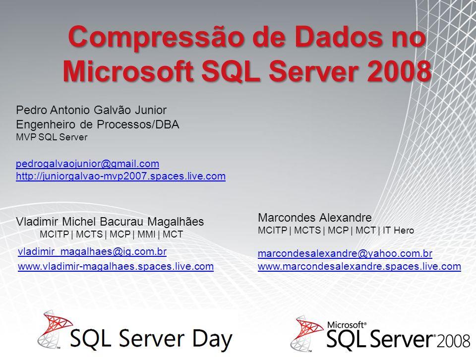 Compressão de Dados no Microsoft SQL Server 2008