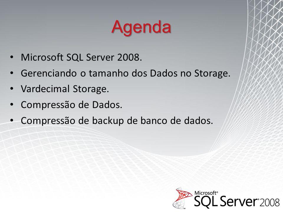 Agenda Microsoft SQL Server 2008.