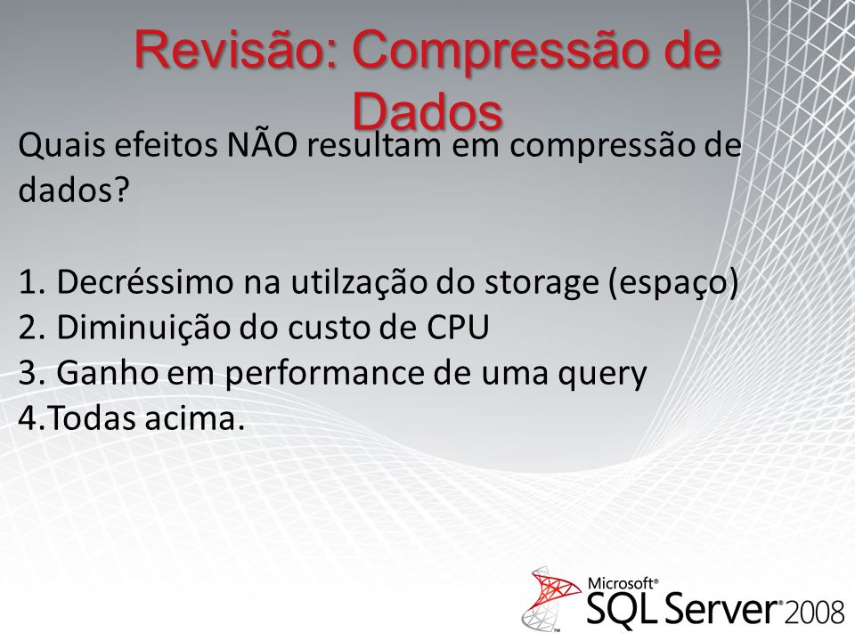 Revisão: Compressão de Dados