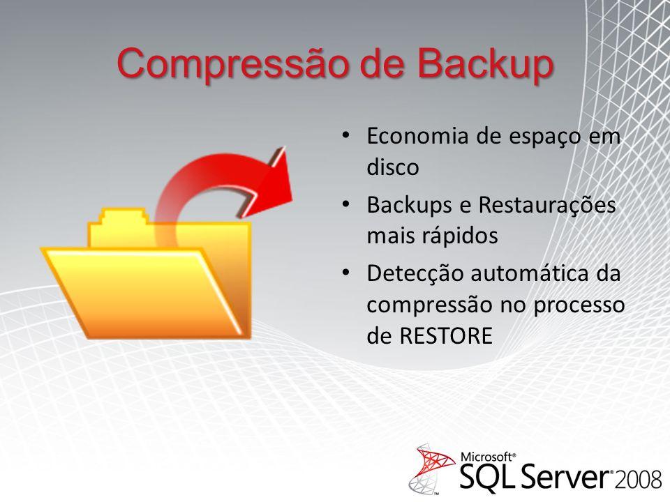 Compressão de Backup Economia de espaço em disco