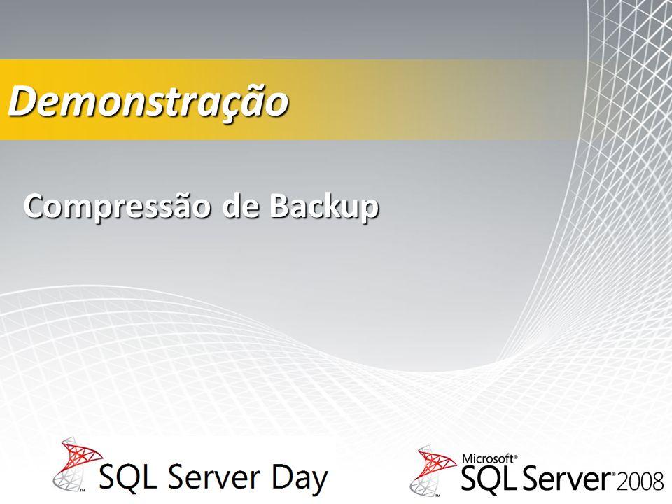 Demonstração Compressão de Backup