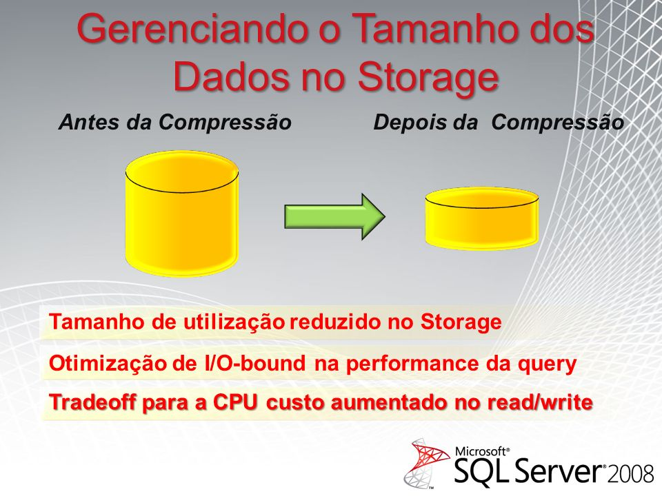 Gerenciando o Tamanho dos Dados no Storage