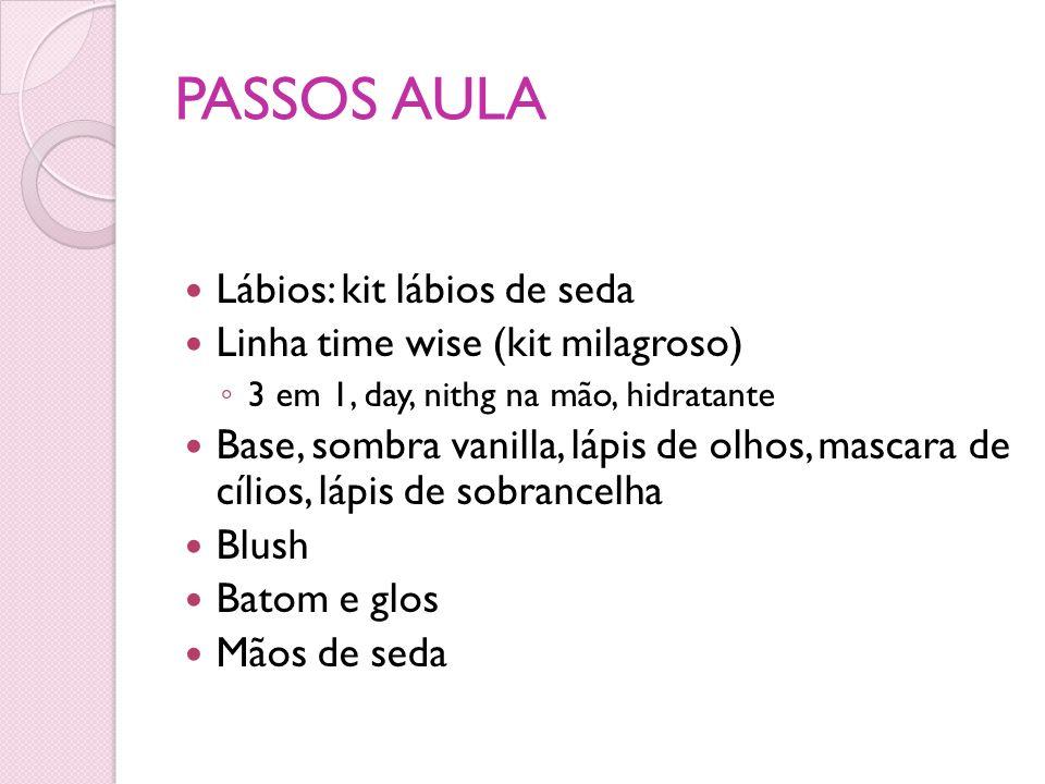 PASSOS AULA Lábios: kit lábios de seda Linha time wise (kit milagroso)