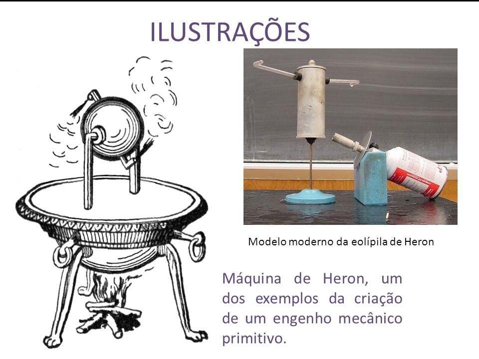 ILUSTRAÇÕES Modelo moderno da eolípila de Heron.