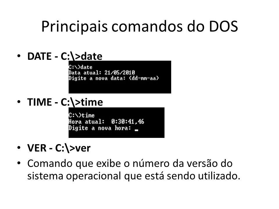 Principais comandos do DOS
