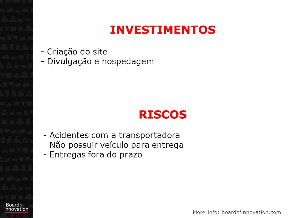 INVESTIMENTOS RISCOS Criação do site Divulgação e hospedagem