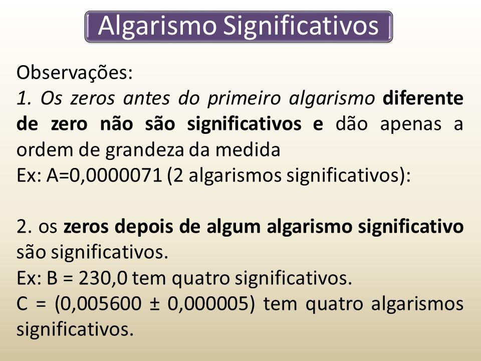 Algarismo Significativos