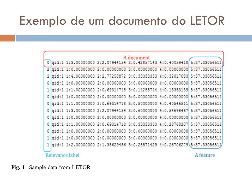 Exemplo de um documento do LETOR