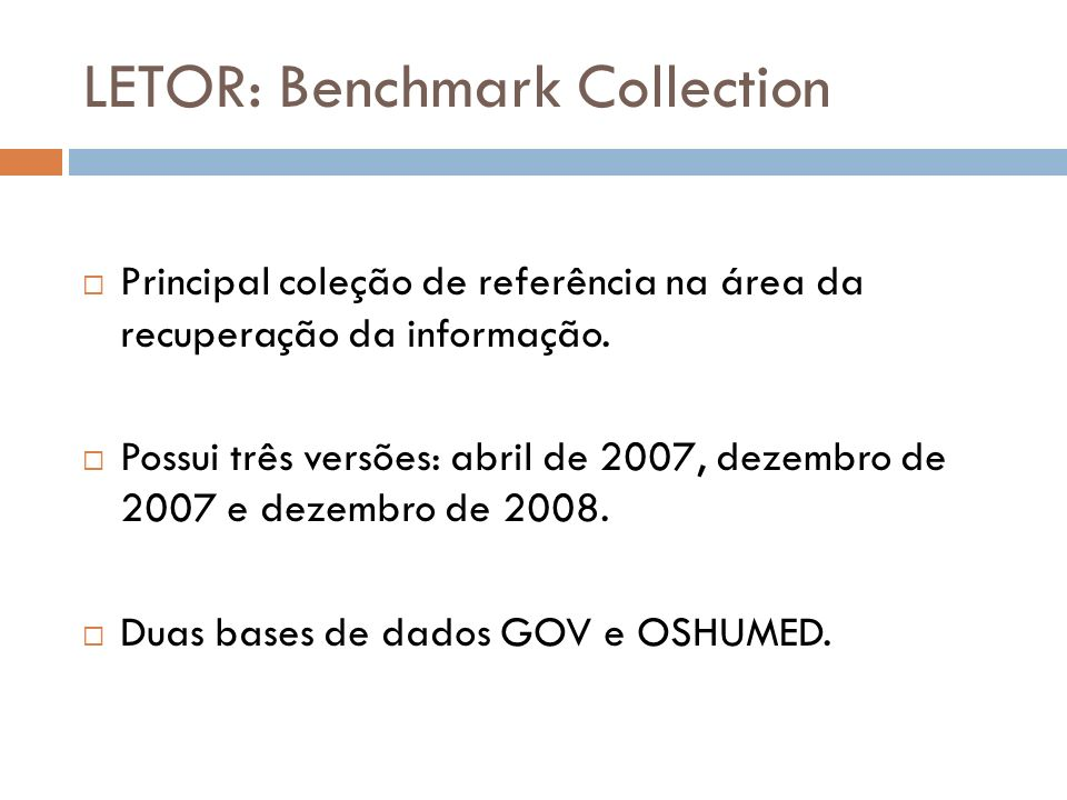 LETOR: Benchmark Collection