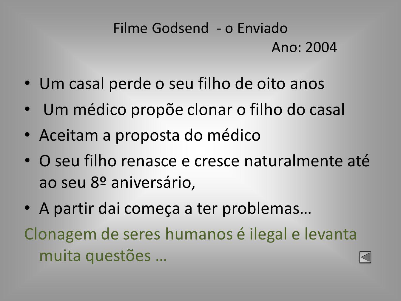 Filme Godsend - o Enviado Ano: 2004