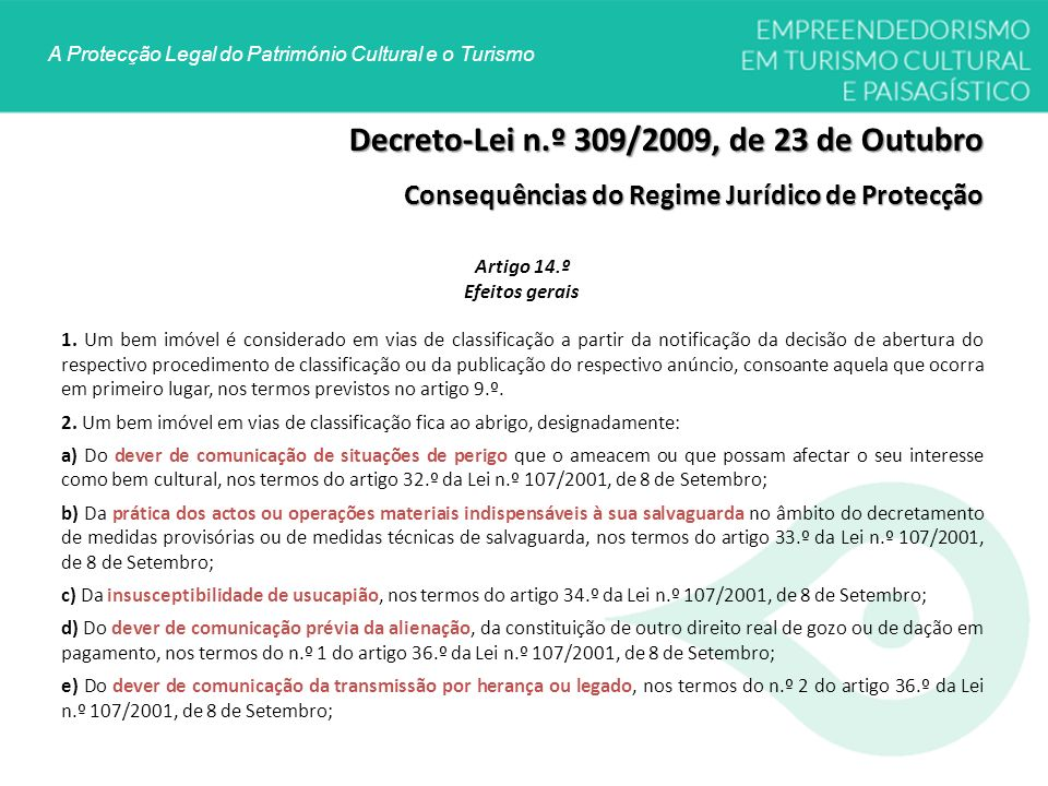 Decreto-Lei n.º 309/2009, de 23 de Outubro