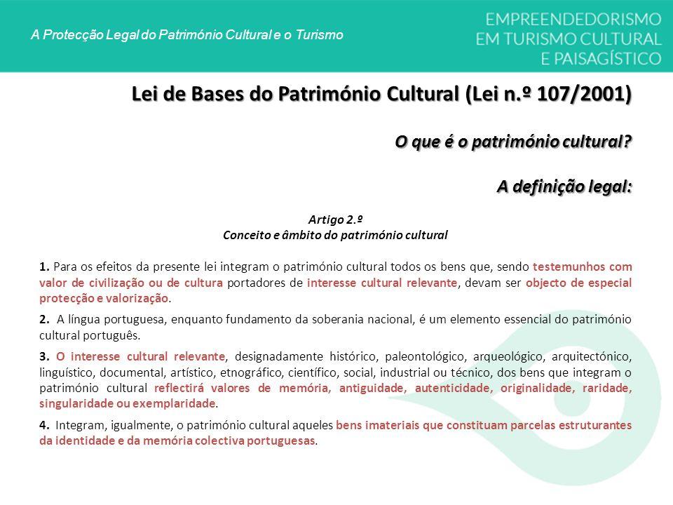 Conceito e âmbito do património cultural