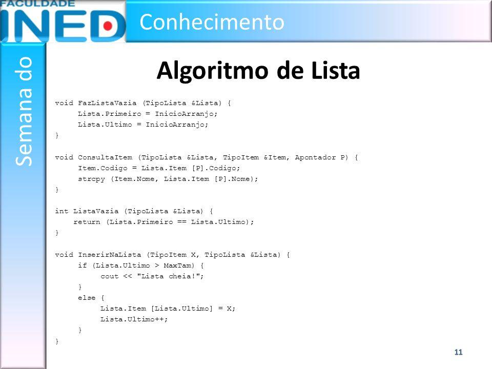 Algoritmo de Lista