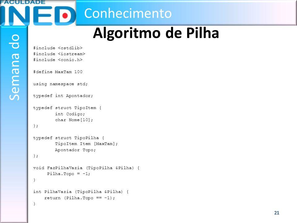 Algoritmo de Pilha