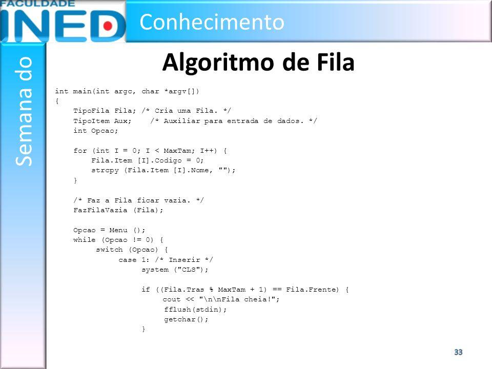 Algoritmo de Fila