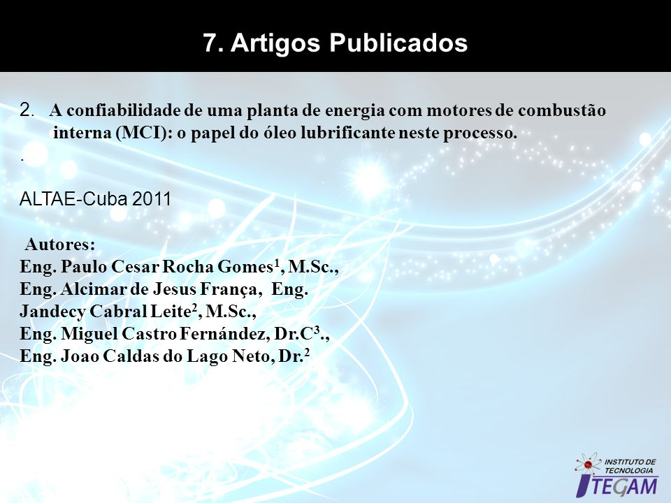 7. Artigos Publicados