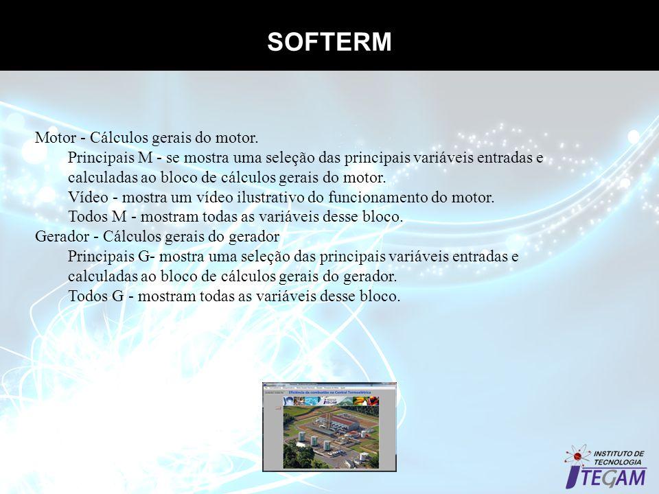 SOFTERM Motor - Cálculos gerais do motor.