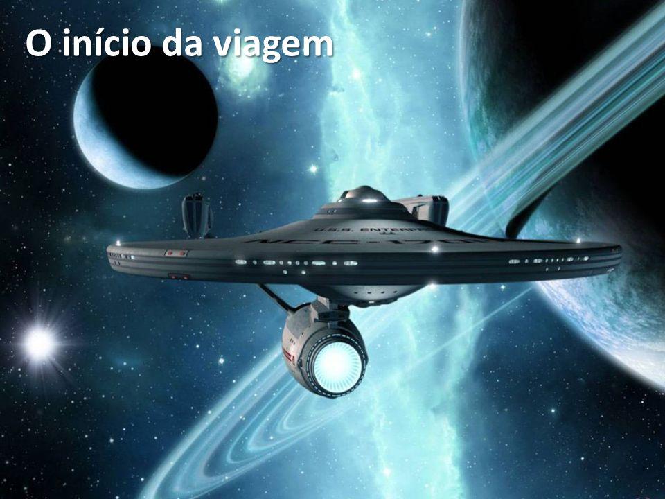 O início da viagem Jornada nas estrelas (1966 – início da série para televisão), criada por Gene Roddenberry.