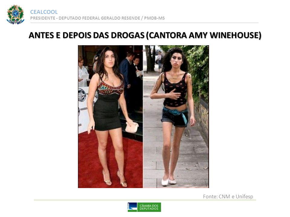 ANTES E DEPOIS DAS DROGAS (CANTORA AMY WINEHOUSE)