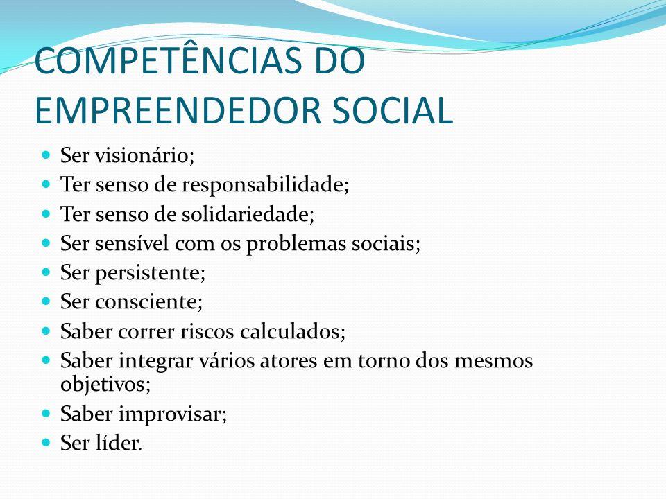 COMPETÊNCIAS DO EMPREENDEDOR SOCIAL