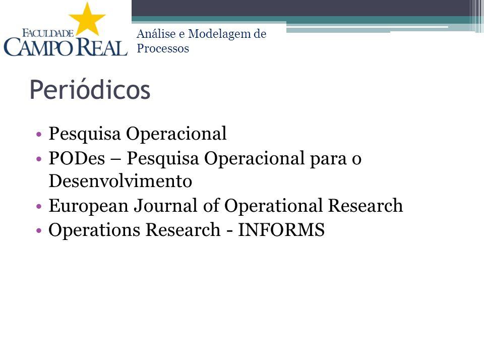 Periódicos Pesquisa Operacional