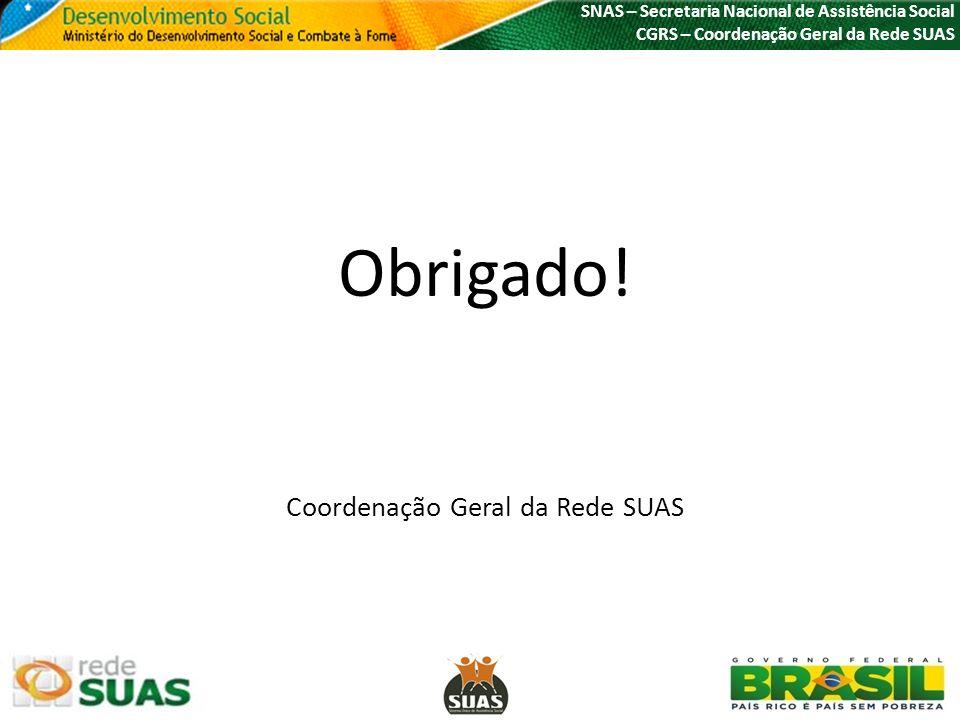 Coordenação Geral da Rede SUAS