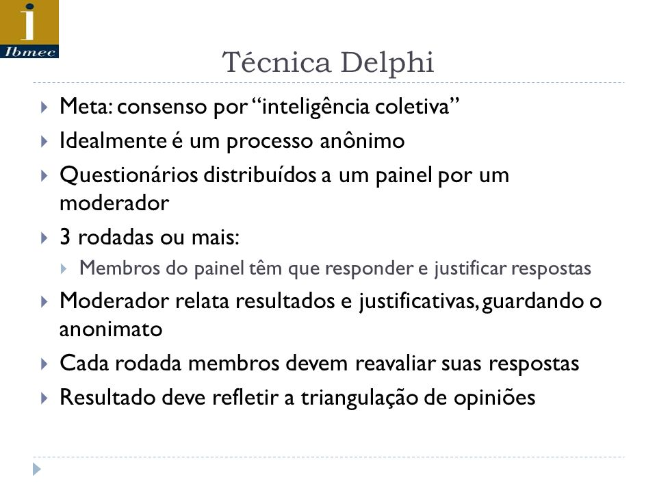 Técnica Delphi Meta: consenso por inteligência coletiva