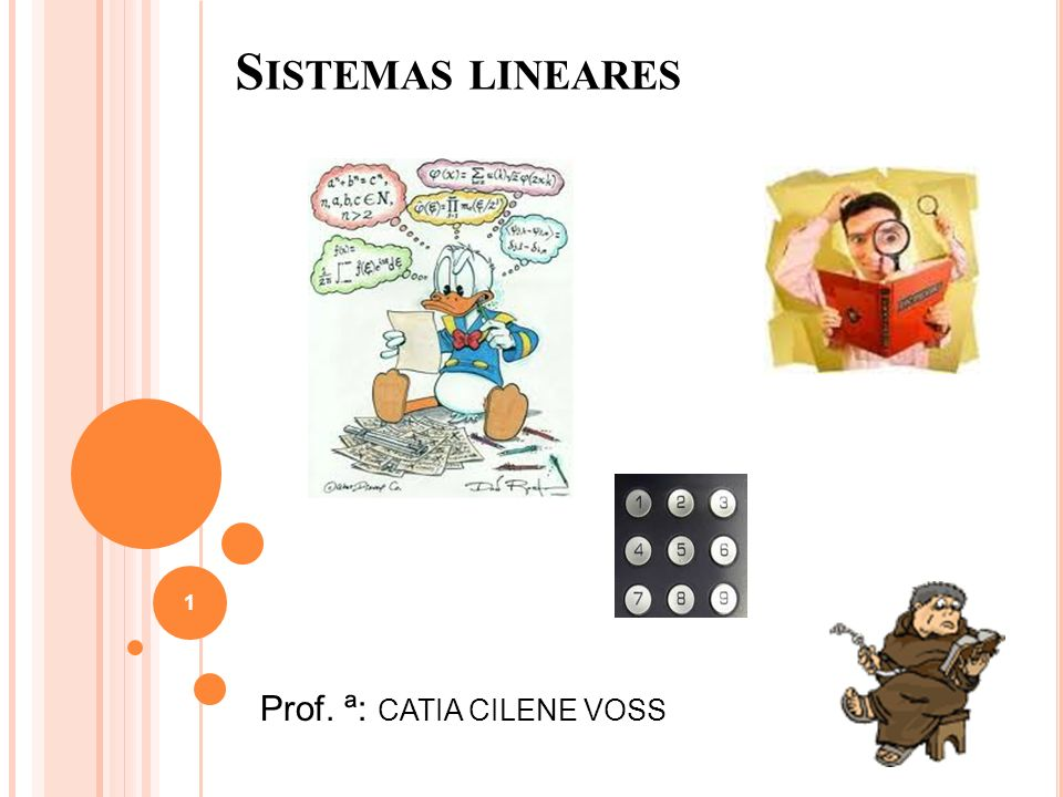 Sistemas lineares Prof. ª: CATIA CILENE VOSS