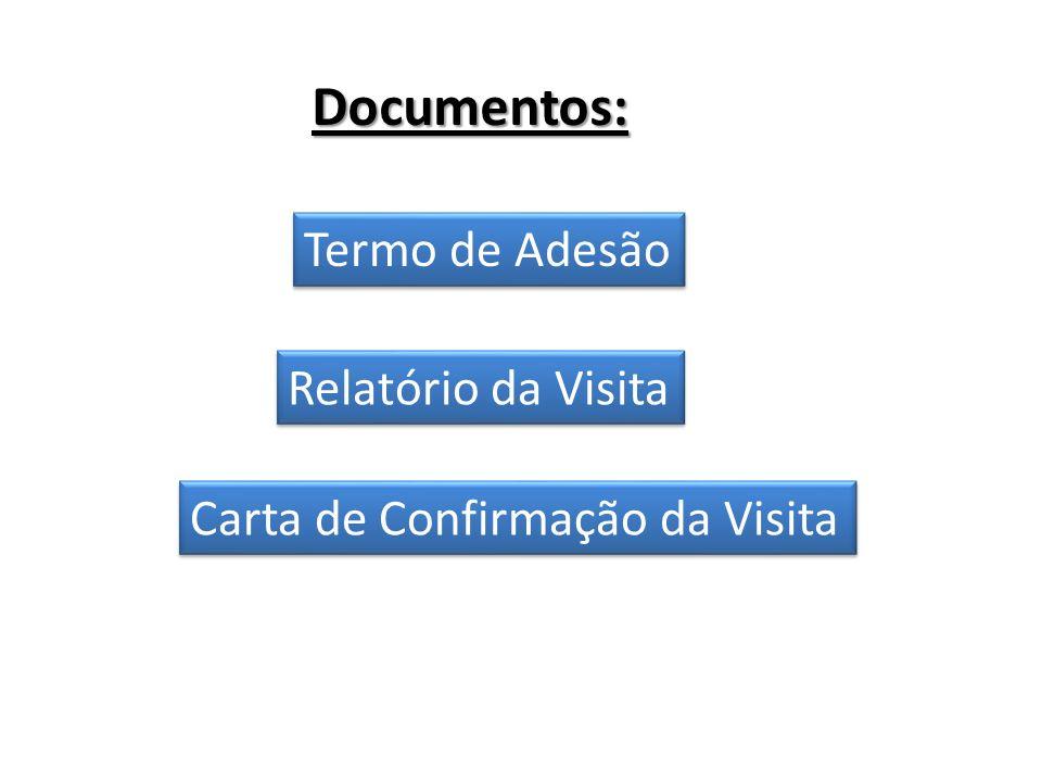 Documentos: Termo de Adesão Relatório da Visita