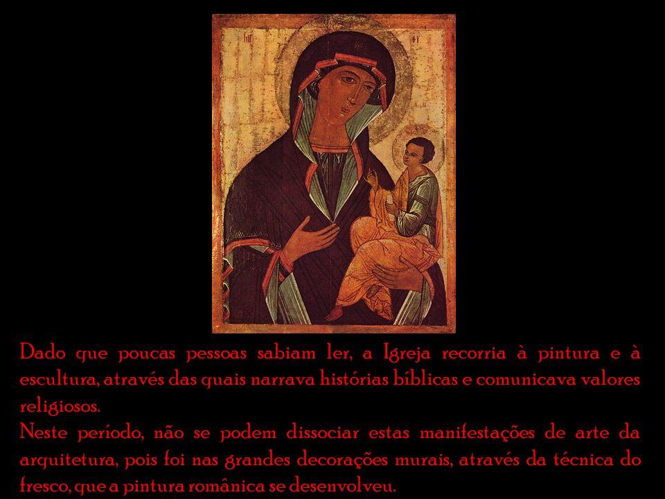 Dado que poucas pessoas sabiam ler, a Igreja recorria à pintura e à escultura, através das quais narrava histórias bíblicas e comunicava valores religiosos.