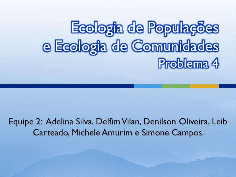 Ecologia de Populações e Ecologia de Comunidades Problema 4