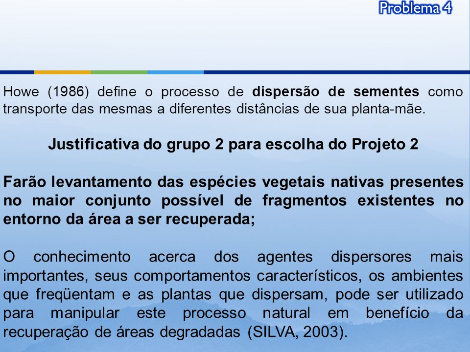 Justificativa do grupo 2 para escolha do Projeto 2