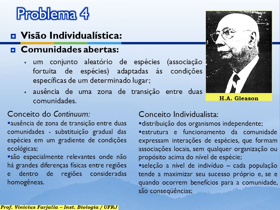 Problema 4 Visão Individualística: Comunidades abertas: