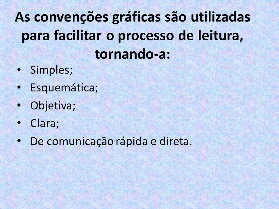 As convenções gráficas são utilizadas para facilitar o processo de leitura, tornando-a: