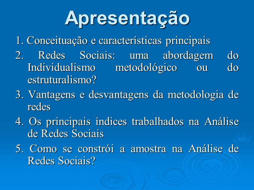 Apresentação 1. Conceituação e características principais