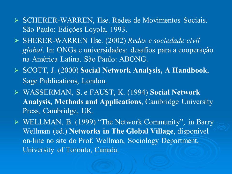 SCHERER-WARREN, Ilse. Redes de Movimentos Sociais