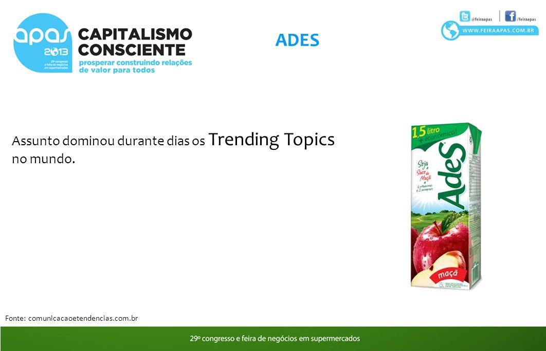 ADES Assunto dominou durante dias os Trending Topics no mundo.
