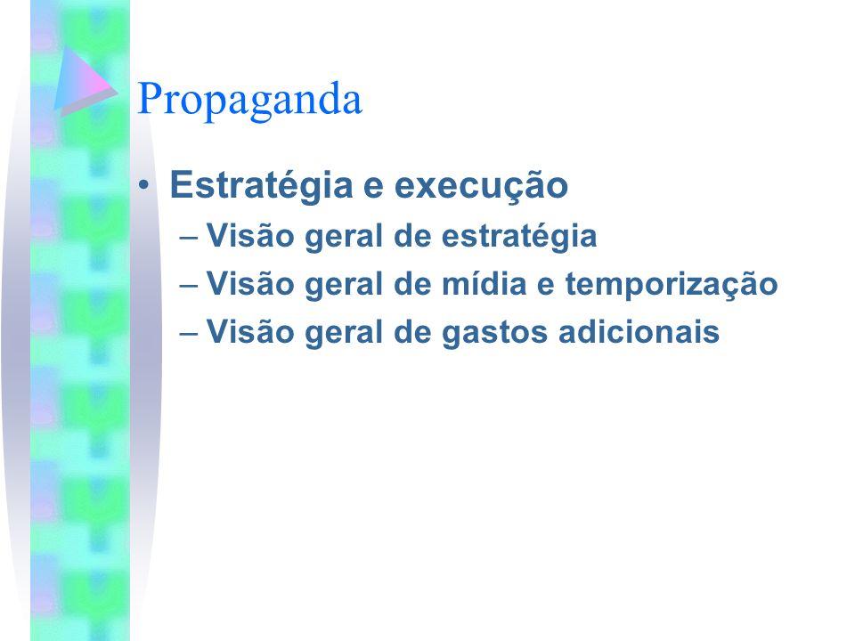 Propaganda Estratégia e execução Visão geral de estratégia